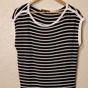 Cable & Gauge Pull Over Stripped Blouse Lg